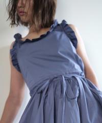 "apron dress ""JEANDREE""  /Purple"