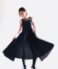 "apron dress ""JEANDREE"" /Black"