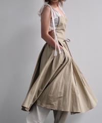 "apron dress ""JEANDREE"" /Brown"