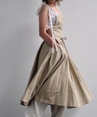 "apron dress ""JEANDREE"" /Brown"