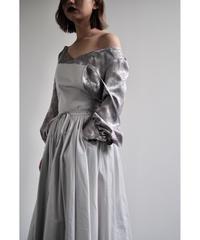 "apron dress ""JEANDREE"" /Silver Grey"