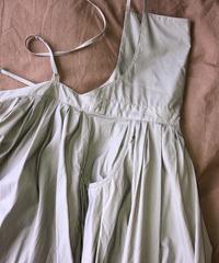 "apron dress ""JEANDREE""  /Grey"