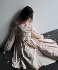 "apron dress ""JEANDREE"" /Pink"