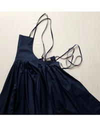 "apron dress ""JEANDREE""  /Navy"
