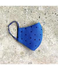 藍染手ぬぐいマスク - Tenuma - 帯水玉 2色反転