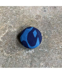 藍ブローチ #009