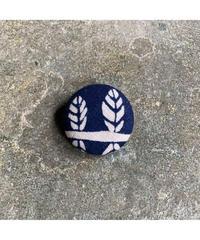 藍ブローチ #004