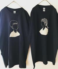 UNDOREDOイラストT  XL ブラック(GIRL / TATOO)