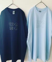 UNDOREDO BIGロゴT  XL (ブラック/ ライトブルー)
