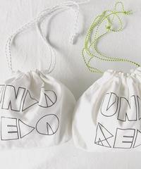 UNDOREDO ホワイト刺繍キンチャク