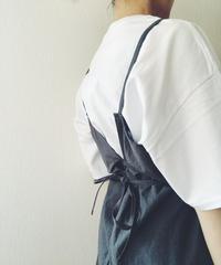 ホソヒモエプロン  ロング(ホワイト/グレー/チャコール/ブラック)