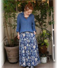 ◇ Patro'n et D*g*y ◇ リネンコットンオリジナルプリントスカート