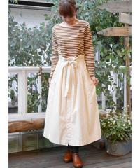 ◇ ichi ◇ 細コール ウエストリボンスカート