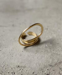 ring-a02001 SV925 Twist Hoop Ring Gold