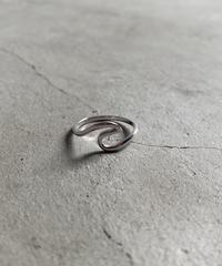 ring-a02021  SV925 Wave Motif Ring