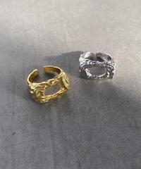 ring-a02087  SV925  Matte  Gather Motif Ring