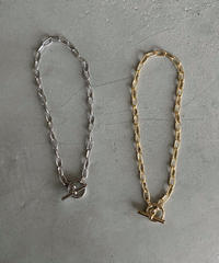 necklace-a02017 Mantel Oval Chain Choker