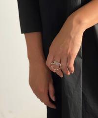 ring-a02002 SV925 Twist Hoop Ring
