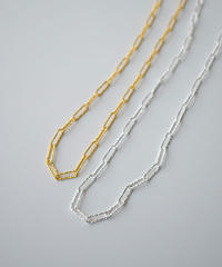 necklace-a02074  SV925    Gather  Motif  Chain  Necklace