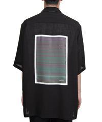 "NULABEL ニューレーベル / OPEN COLLAR SHT S/S ""GLITCH ART BY UCNV"" オープンカラーシャツ / 113301"