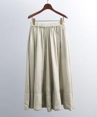 unfil アンフィル / cotton & silk-twill gathered skirt / WOSP-UW127