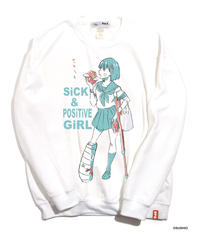 すしお×And A『SiCK & POSiTiVE GiRLS』#6 Graphic Sweatshirt