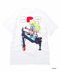 すしお×And A『SiCK & POSiTiVE GiRLS』#4 Graphic T-shirt Back-Print