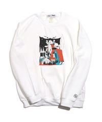 And A x 影山紗和子 「おばけのじかん」  CREW NECK /  118-ART-2001-W-02-0036