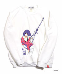すしお×And A『SiCK & POSiTiVE GiRLS』#5 Graphic Sweatshirt