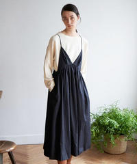 unfil アンフィル / washed cotton-poplin camisole dress / WOSP-UW118