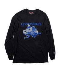 And A x 鈴木 夏菜 「LIVINSPACE」BLUE L/S TEE / 108-ART-2002-B-02-0035-BLUE