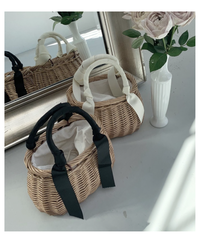 ribbon french basket  (2colors)