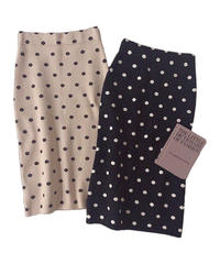 【Autumn 31】dot knit pencil skirt (A20-03061K)