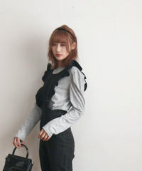 puff sleeve sweat pullover(A19-01154K)