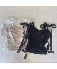 ribbon lace bustier (S20-01190K)