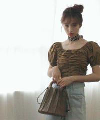 canele bag (S19-08022K)-BRN.SOL/F
