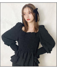 【Autumn 1】shirring flare blouse (cg00048)