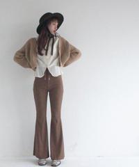 chunky knit cardigan & rib pants (A19-05031K)