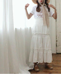 【lottie made】cotton flare skirt