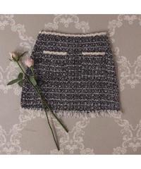 【Autumn 5】 tweed fringe mini skirt (A20-03056K)