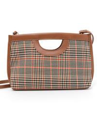 check rectangle bag (A19-08025K)-BRN.CHK/F