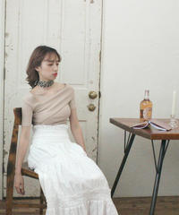 【lottie made】cotton flare skirt (S19-03036O)