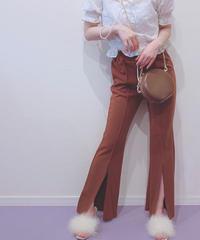 front slit pants (S19-02004K)-BEG.SOL/F
