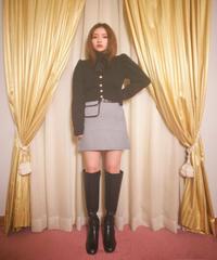 pocket check mini skirt