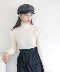 puff sleeve turtleneck  knit(A19-01172K)