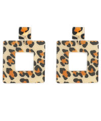 leopard square pierce (S19-10111K)