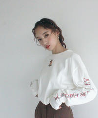 【lottie made】angel long sleeve tee (S19-01063O)-WHT.SOL/F