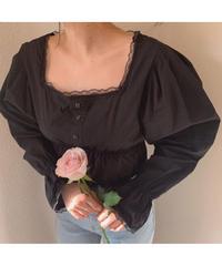square neck peplum blouse (S20-01193K)