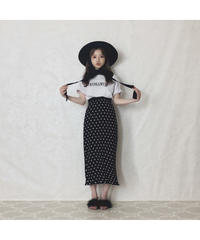 【Summer 11】dot pleats pencil skirt(S20-03053K)