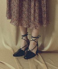 laceup heel sandal (2colors)
